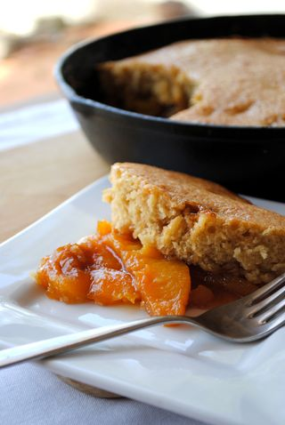 Caramelized Peach Cobbler