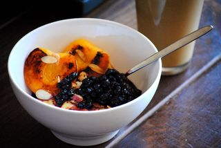 Peach Blueberry Grits