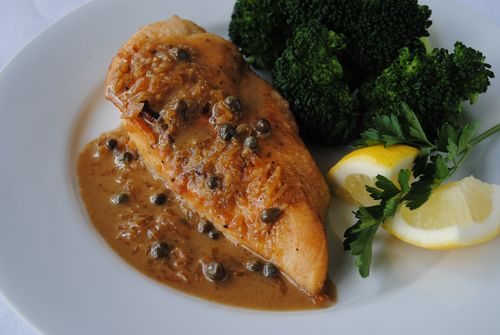 Pan Fried Chicken Lemon Caper Sauce